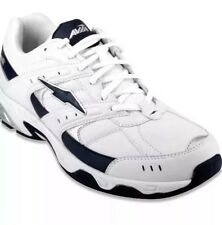 """Mens Athletic Shoes WHITE & NAVY BLUE AVIA """"PETER"""" Walking LACE UP Size 7"""