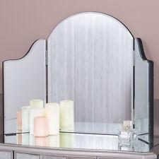 Triple Dressing Table Mirror Modern Chic Bedroom Hallway Home Glass Freestanding