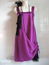 BELLE OASIS Vintage 1920's Purple Silk Charleston Gatsby Flapper Tunic Dress 8