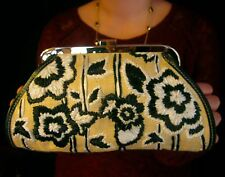AUTHENTIC Rafe NY Straw Rafia woven Embroidered Clutch kate spade earrings bow