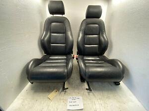 00-06 AUDI TT MK1 LEFT RIGHT BLACK LETHER FRONT SEATS