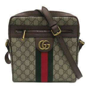 Gucci GG Supreme Ophidia Small Messenger Shoulder Bag Beige Brown 547926
