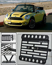 For 11-15 Mini Cooper S R57 MK2 Convertible Front Tow Hook License Plate Bracket