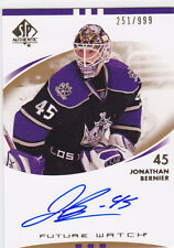 2007 07-08 SP Authentic #219 Jonathan Bernier Autograph RC Rookie 251/999