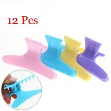 2019 New Butterfly Hairdressing Section Clamps Hair Clips Plastic Claw 12Pcs/Set