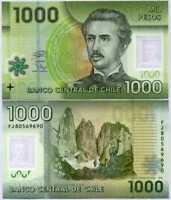CHILE 2016 GEM UNC 1000 Pesos Banknote Polymer Money Bill P-161g