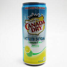 Canada Dry Lemon Lime Club Soda Limited Edition 310 ml Can NEW FREE FAST SHIP