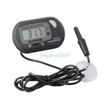 Lcd Digital Fish Aquarium Thermometer Water Terrarium Black Free Extra Batteries 00004000
