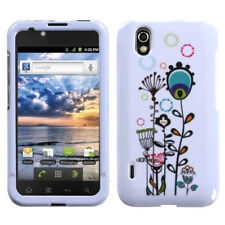For Alltel LG Ignite HARD Protector Case Snap Phone Cover Peacock Tail Flowers