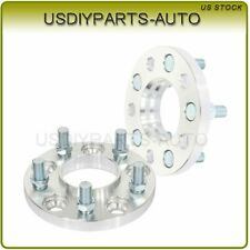 2 pcs 15mm thick wheel spacers silver 5x4.5 14x1.5 studs for Ford Mustang
