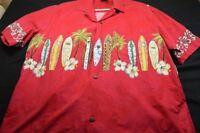 Winnie Fashion Made in Hawaii Red Xl Surfboards Men's Shirt