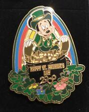 Disney LEPRECHAUN MICKEY POT OF GOLD+RAINBOW HAPPY ST PATRICK'S DAY 2000 Pin