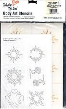 BADGER BODY ART STENCILS- TOTALLY TATTOO - BELLY BUTTONS PACK