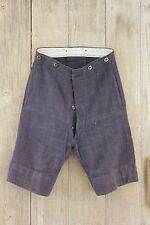 Shorts Vintage French boy's clothing blue wool fabric button up bottoms 1920's