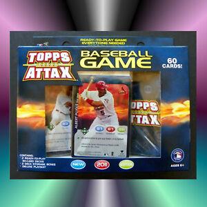 Baseball Card Game Set, Topps Attax 2011, New CCG TCG Gaming, Playmat, Lot of 60