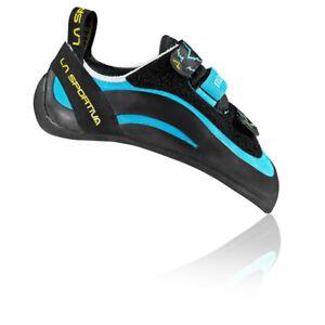 La Sportiva Womens Miura VS Climbing Shoes - Black Blue Sports Breathable