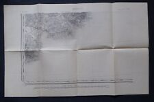 § carte ancienne Etat Major type 1889 - ANTIBES S.O. révisée en 1896 - 04/1907