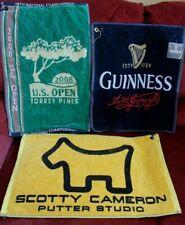 3 Golf Towels Scotty Cameron, Guinness, 2008 U.S. Open Torrey Pines