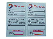 TOTAL Oil Change Service Reminder Stickers - Set of 10 PVC stickers