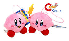 "Nintendo KIRBY Two Mini Plushdoll Phone Charm Key Chain 2"" Star Stand Kirby"