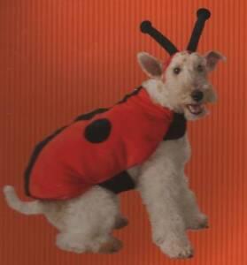 LADY BUG DOG COSTUME Large Dog Halloween Pets Canine Red Cute Ladybug Insect NEW