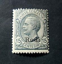 "ITALIA ,ITALY C.EGEO GENERALI RODI 1918"" Fr.d'Italia SVR "" 15c grigio MNH**ss 11"