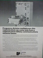 7/1978 PUB E-SYSTEMS ECI AN/ACC-6(V) FREQUENCY DIVISION MULTIPLEXER USAF AD