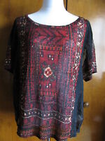 Denim & Supply women's multi color evening detailed mesh crafted top Large NWT