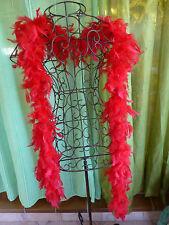 2m10 Magnifique Boa Plumes rouges !! soirée,photos ,look .....