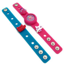 Moshi Monsters Charm Watch Interchangable Straps Poppet Purdy Pink Teal Kids