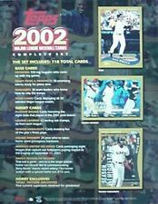 2002 TOPPS SET BASEBALL DEALER PROMO (MIKE PIAZZA, BARRY BONDS, SAMMY SOSA +