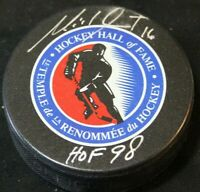 MICHEL GOULET signed hockey hall of fame hockey puck