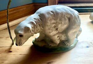 Vintage Polar Bear night light/lamp--porcelain/china