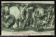 1172.-COVADONGA -Tríptico. Hermoso alto-relievé en plata del Pedestal