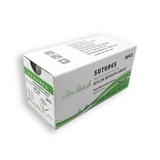 4/0 Training Surgical Sutures Nylon Monofilament, Pack of 12, Sterile