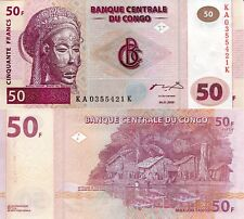 CONGO 50 Francs Banknote World Paper Money UNC Currency Pick p91A 2000 Bill Note