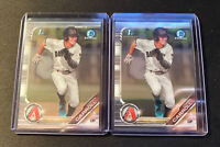 2019 Bowman Draft Chrome Corbin Carroll 1st Bowman 2 Card Lot Diamondbacks