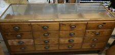 More details for vintage oldhaberdashery display counter cabinet16 drawer with yard measurement