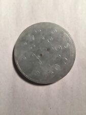 1) large antique JADITE coin celedon w/lavender green Scrollwork NETSUKE