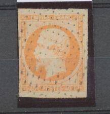 Second Empire Napoléon N°16 40c orange oblitéré pointillés. TB. A1223