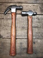 Pair of Vintage Plumb Hammers 20 oz. Claw and 24 oz. Ball Peen