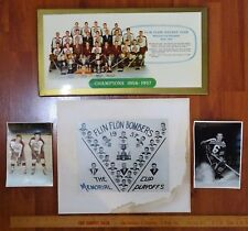 RARE - 1956 1957 Flin Flon Bombers Hockey Team Canada Championship Photos ++
