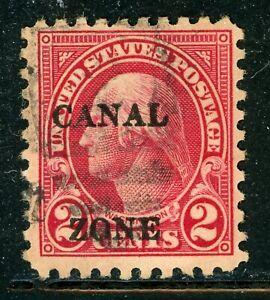 CANAL ZONE Used Selections: Scott #97 2c Washington PERF 10 (1926) CV$11+