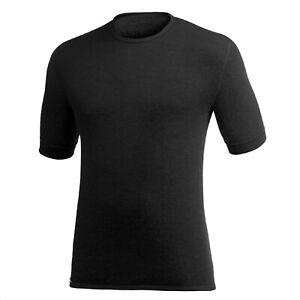 Woolpower T-Shirt 200 round Neck Shirt Black T-Shirt