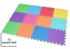 Tapis de jeu Edukit avec 12 dalles en mousse EVA emboîtables pour enfants - Mult