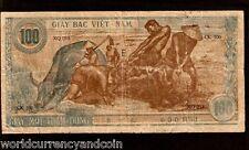 VIETNAM 100 DONG P8 1946 HCM BUFFALO LARGE RARE CURRENCY MONEY BILL BANK NOTE