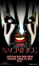 """Officiel tna impact wrestling sacrifice 2014 11x17 """"publicité Poster bill"""