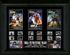 Signed Framed Back to The Future Trilogy Film Cell Display