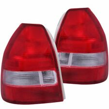 FOR 1996-2000 HONDA CIVIC HATCHBACK TAIL LIGHTS RED CLEAR PAIR LH+RH