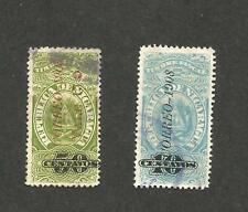 Scott # 218 - 1908 - 'Nicaragua Revenue Stamp 'Timber Tax, Ovpt CORREO 1908